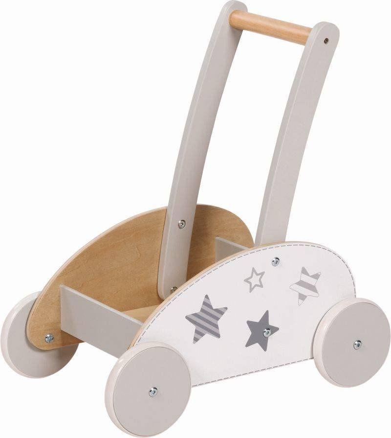 Drewniany wózek pchacz Biała gwiazda 54909-Goki, chodziki dla dziecka