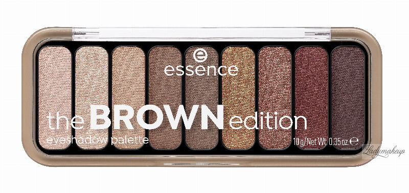 Essence - The BROWN Edition Eyeshadow Palette - Paleta 9 cieni do powiek - 30 Gorgeous Browns