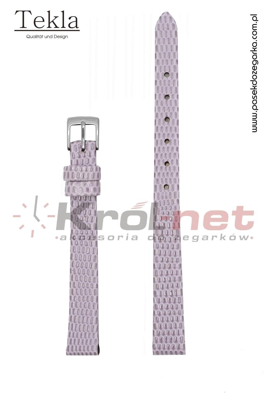 Pasek TK033JFIO/14 - jasny fioletowy, imitacja skóry jaszczurki