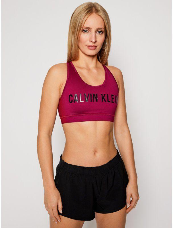 Calvin Klein Performance Biustonosz top Medium Support 00GWF0K157 Różowy