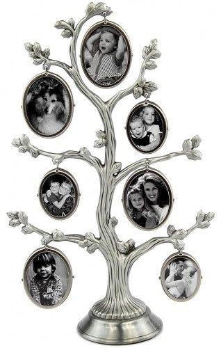 Ramka drzewko na 7 zdjęć srebrna CK 519