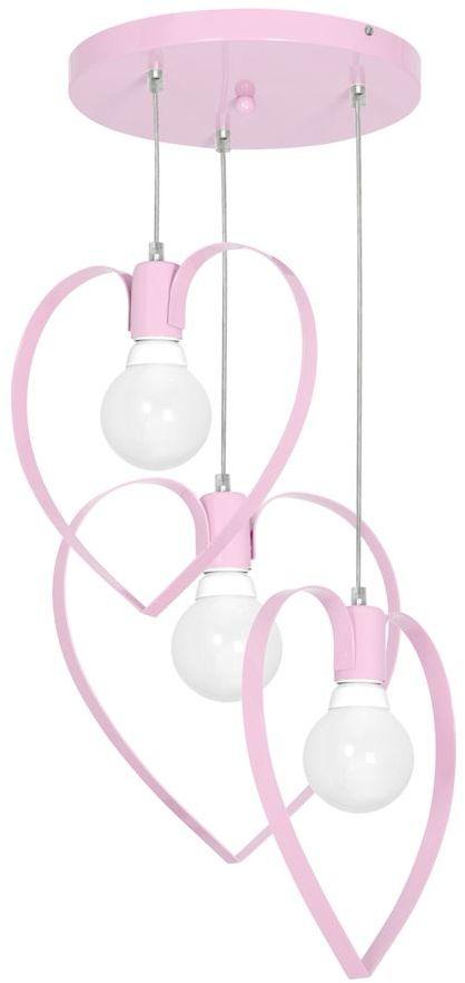 Milagro AMORE PINK MLP9954 lampa wisząca metalowe serca różowy 3xE27 40cm