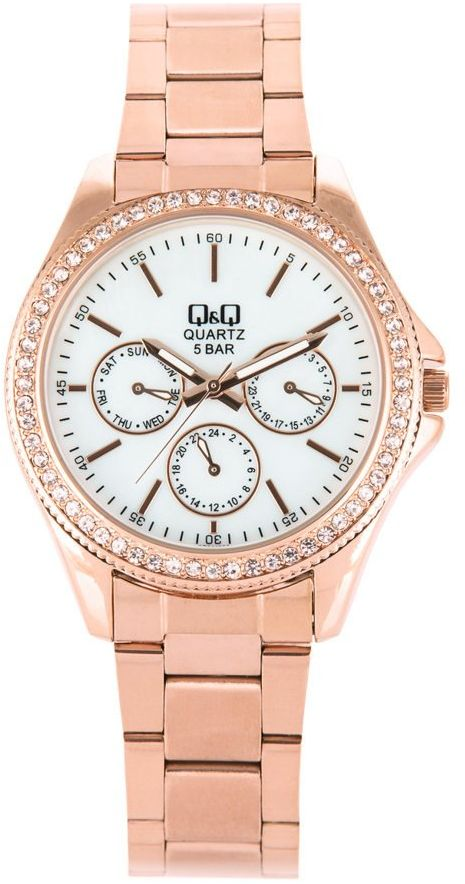 Zegarek Q&Q CE01-002 Cyrkonie Biżuteryjny MultiData