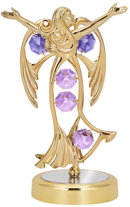 Figurka Anioł kryształy Swarovski Chrzest Roczek