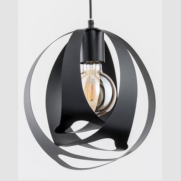 Nowoczesna lampa WAVE BLACK 28cm