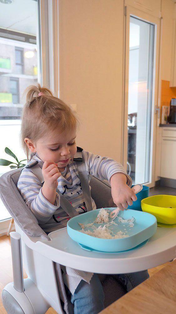 Beaba Silikonowy talerzyk z przyssawką blue 913430- Beaba, naczynia dla niemowląt