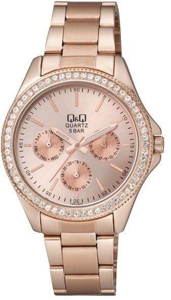 Zegarek Q&Q CE01-010 Cyrkonie Biżuteryjny MultiData
