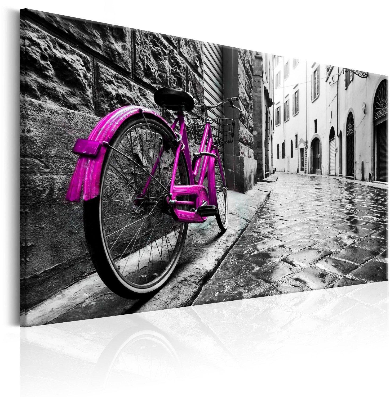 Obraz - vintage pink bike