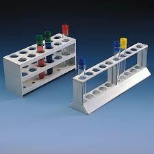 Statyw polipropylenowy 2 rzędowy 12 probówek, śr.20mm 190x60mm