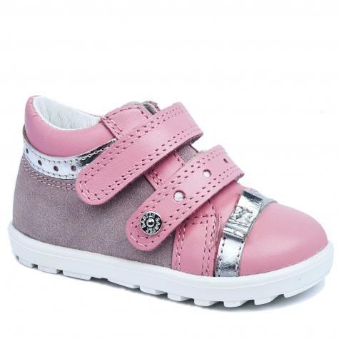 Bartek 11733 - 001 trzewiki, półbuty profilaktyczne Mini first steps dla dziewczynek - róż