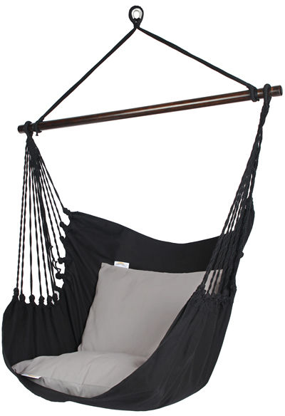 Fotel hamakowy, czarny HC10