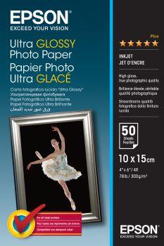 Papier 10x15 EPSON Ultra Glossy Photo Paper 300g/m (50ark) (C13S041943)