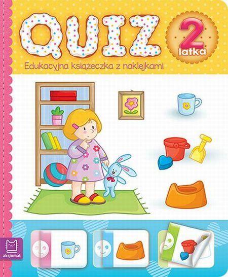 Quiz 2-latka Edukacyjna książeczka z naklejkami
