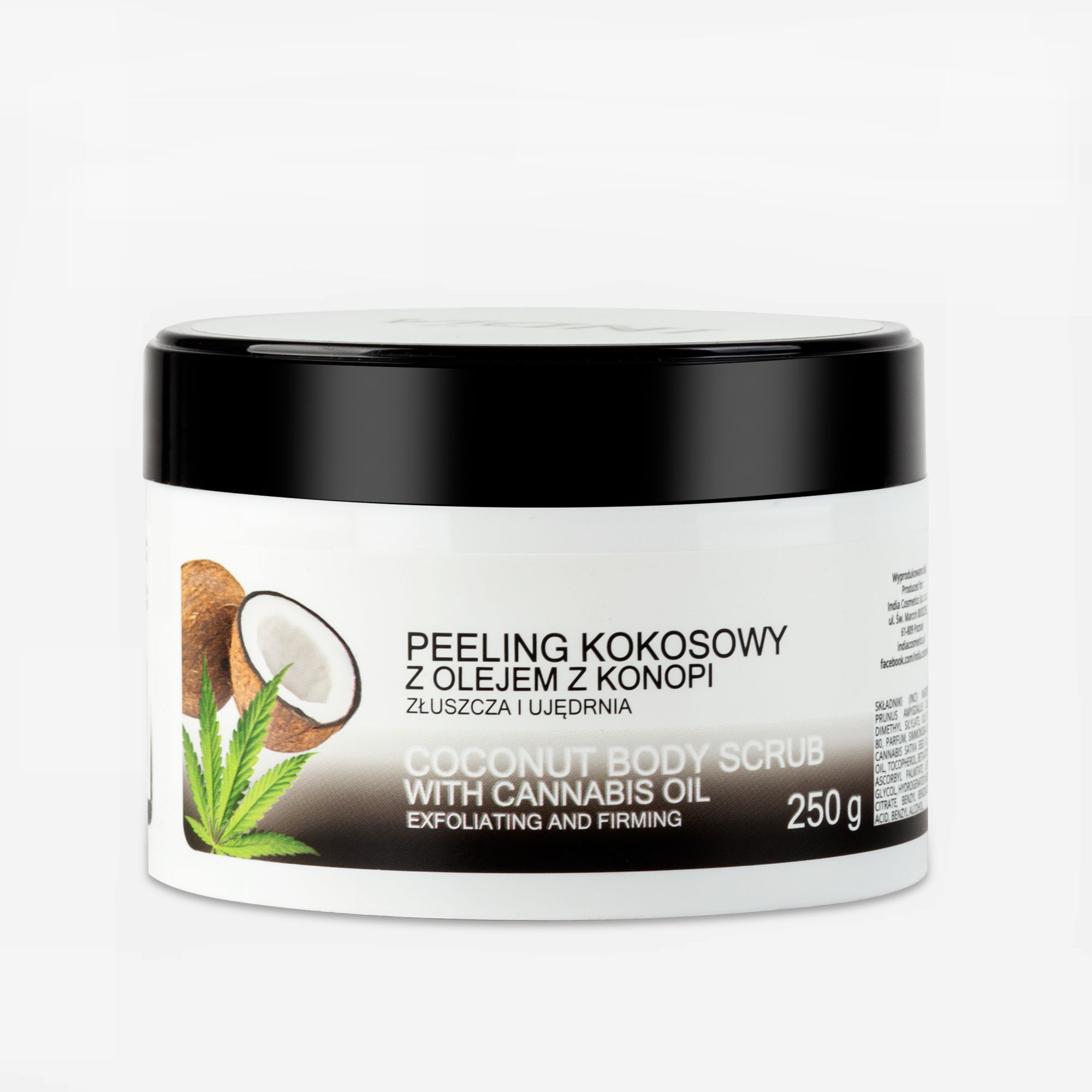 Peeling do Ciała Kokosowy, India Cosmetics, 250ml