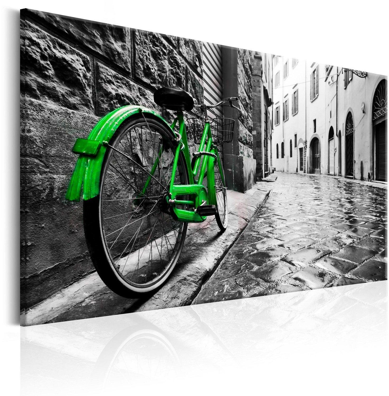 Obraz - vintage green bike