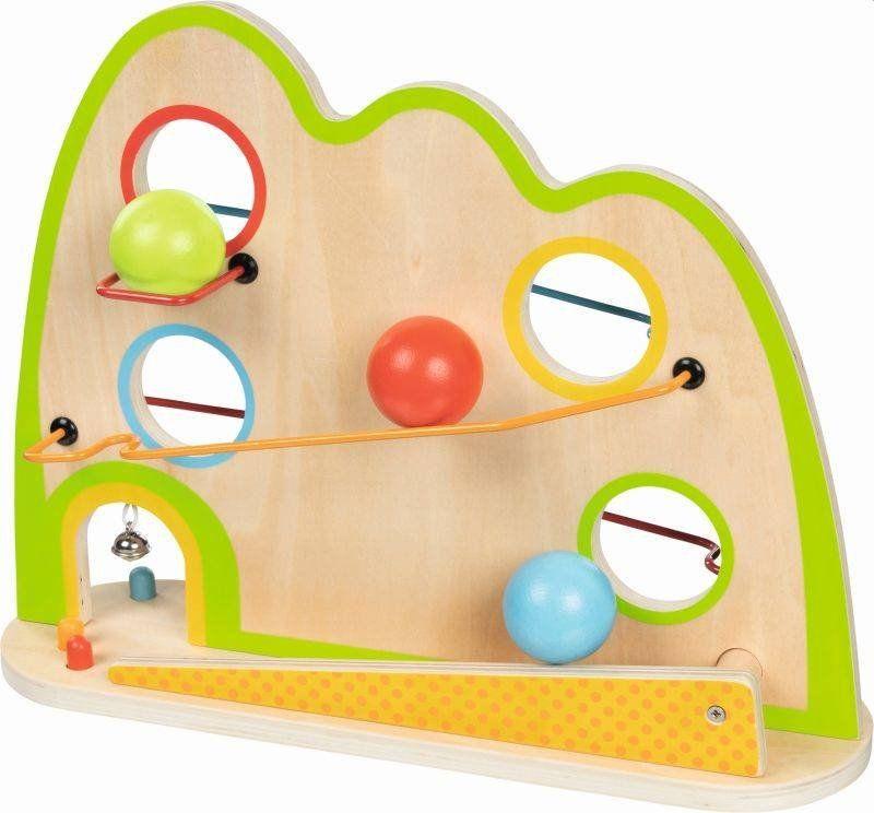 Drewniany kulodrom z dzwoneczkiem Fale 53822-Goki, zabawki rozwojowe