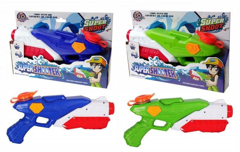 Pistolet na wodę 28cm SuperShooter Mega Creative +3 429701 6171-ET-ZABAWKI 6171-ZIELO, Kolor: Zielony