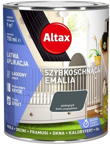 Emalia szybkoschnąca Altax antracyt połysk 0,75 l
