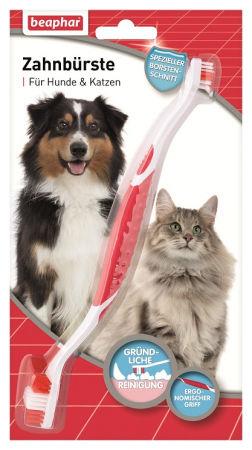 Szczoteczka do zębów dla psów wszystkich ras - dwugłowicowa