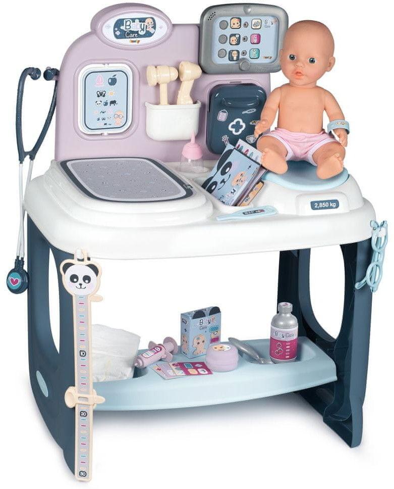 Smoby Interaktywna Opiekunka Baby Care Centrum Opieki + Lalka