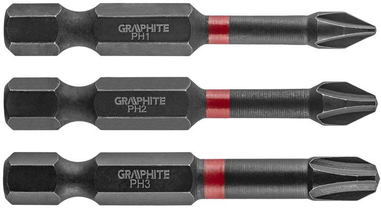 Bity udarowe PH1 2 3x50mm 3szt. 56H543