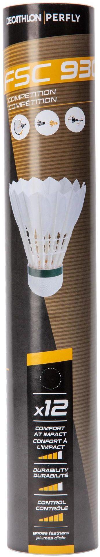Lotki do badmintona z piór FSC 930 x12 (SZYBKOŚĆ 77)
