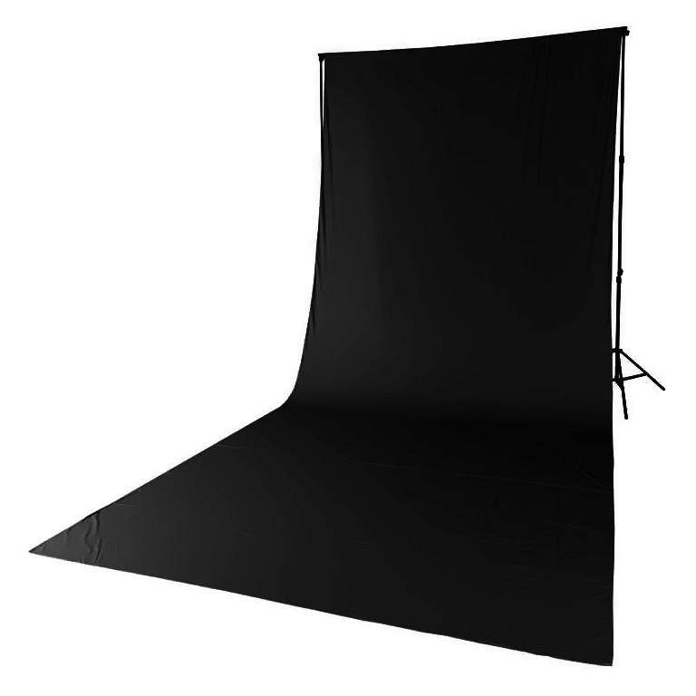 Tło tekstylne czarne Quadralite 2,85m x 6m - WYSYŁKA W 24H