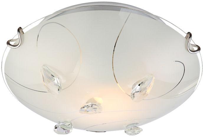 Globo plafon lampa sufitowa Alivia 40414-1 szklana z kryształkami 25cm