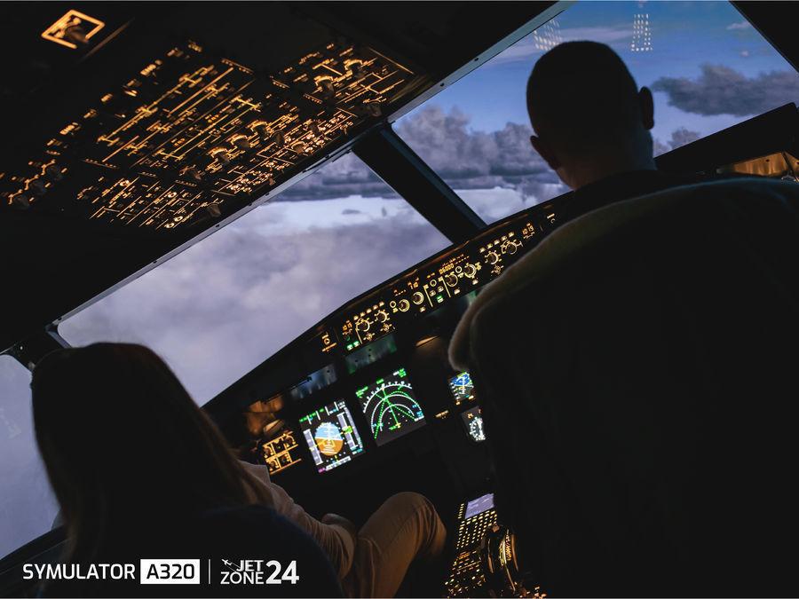 Symulator lotu samolotem - Airbus A320 - Warszawa - 40 minut