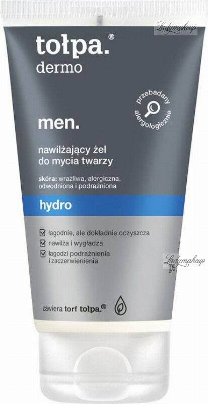 Tołpa - Dermo Men Hydro - Nawilżający żel do mycia twarzy dla mężczyzn - 150 ml