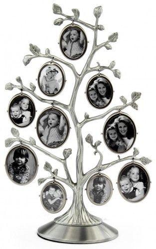 Drzewko genealogiczne na 10 zdjęć srebrne CK 530