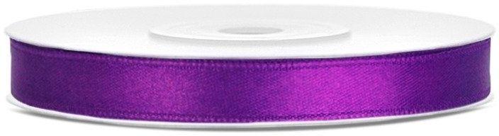 Tasiemka satynowa 6mm purpurowa 25m 1szt. TS6-062