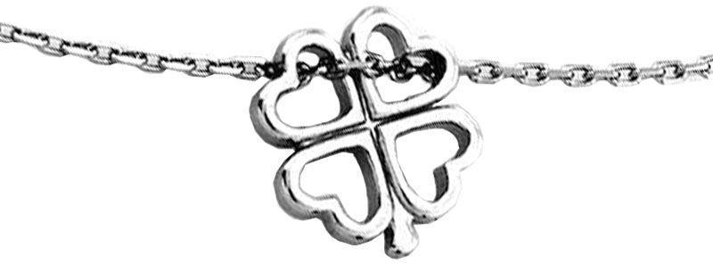 Srebrny naszyjnik 925 koniczynka celebrytka 1,72 g