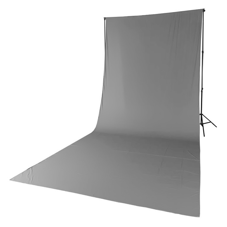 Tło tekstylne szare Quadralite 2,85m x 6m