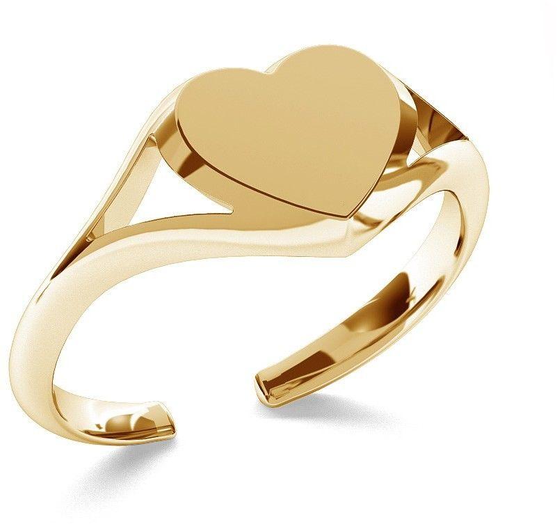Srebrny pierścionek serce, dowolna litera, srebro 925 : Litera - C, Srebro - kolor pokrycia - Pokrycie platyną