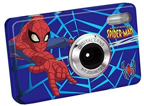 Lexibook Spiderman aparat cyfrowy (5 megapikseli, 8-krotny zoom optyczny, wyświetlacz 6,1 cm (2,4 cala)