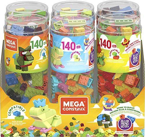 Mattel GVM52 Mega Bloks tuba, 140 sztuk, różne kolory, kolorowe