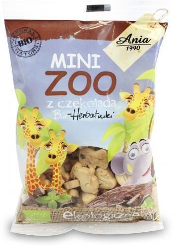 Ciasteczka mini zoo Z CZEKOLADĄ BIO 100g Bio Ania