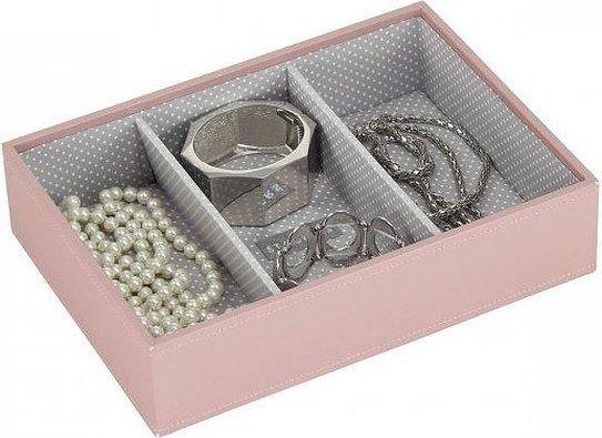 Szkatułka na biżuterię stackers 3 komorowa classic różowa