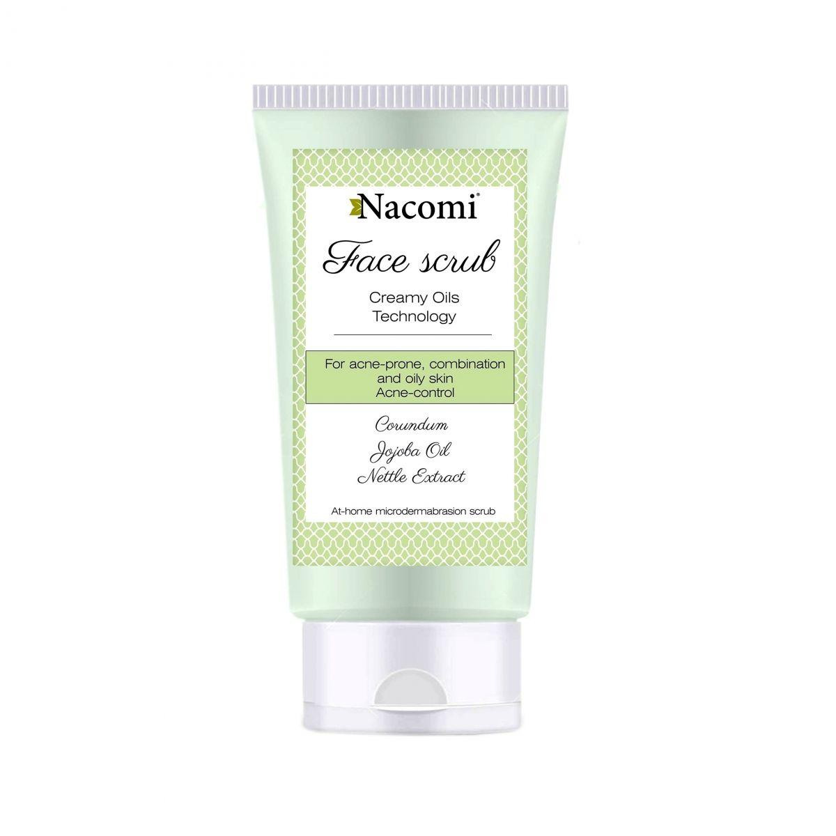 Peeling do twarzy o działaniu przeciwtrądzikowym z korundem i olejem jojoba - 85ml - Nacomi