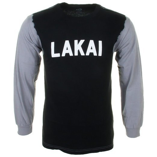 t-shirt męski LAKAI SLOANE DYED LS TEE BLACK
