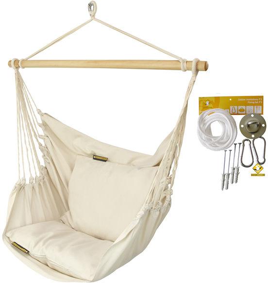 Leżak hamakowy HCXL z zestawem montażowym, ecru zhcxl209-koala/fix/ch1