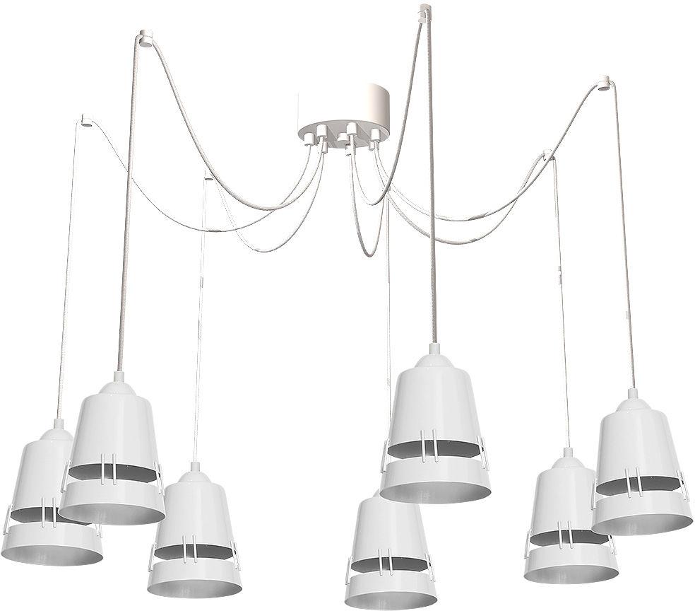 Milagro APOLLO WHITE MLP775 lampa wisząca regulacja wysokości szerokości głębokości biały metal 7xE27 50-100cm