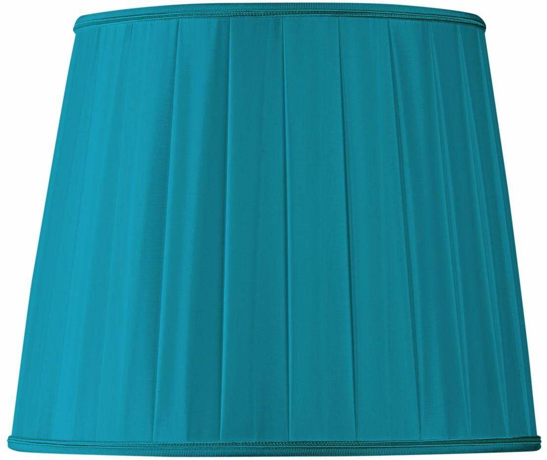 Klosz lampy w kształcie plisy o średnicy 20 x 16 x 17,5 cm, turkusowy