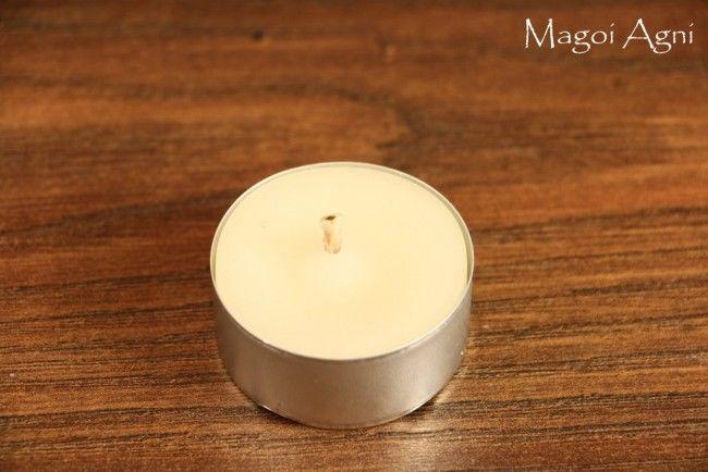 Tealight - świeca z wosku herbaciarka - biała