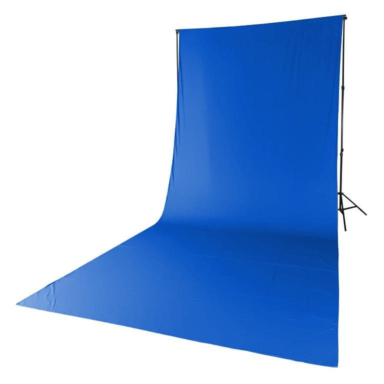 Tło tekstylne niebieskie Quadralite 2,85m x 6m