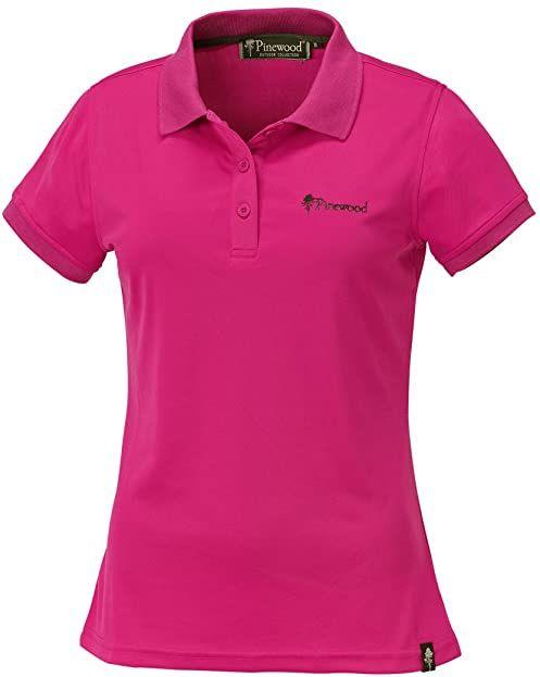 Pinewood Pinewood Ramsey damska koszulka polo różowy różowy (Hot Pink) XS
