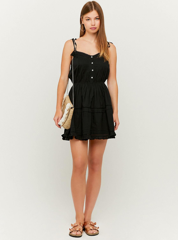 Tally Weijl czarna sukienka z koronką