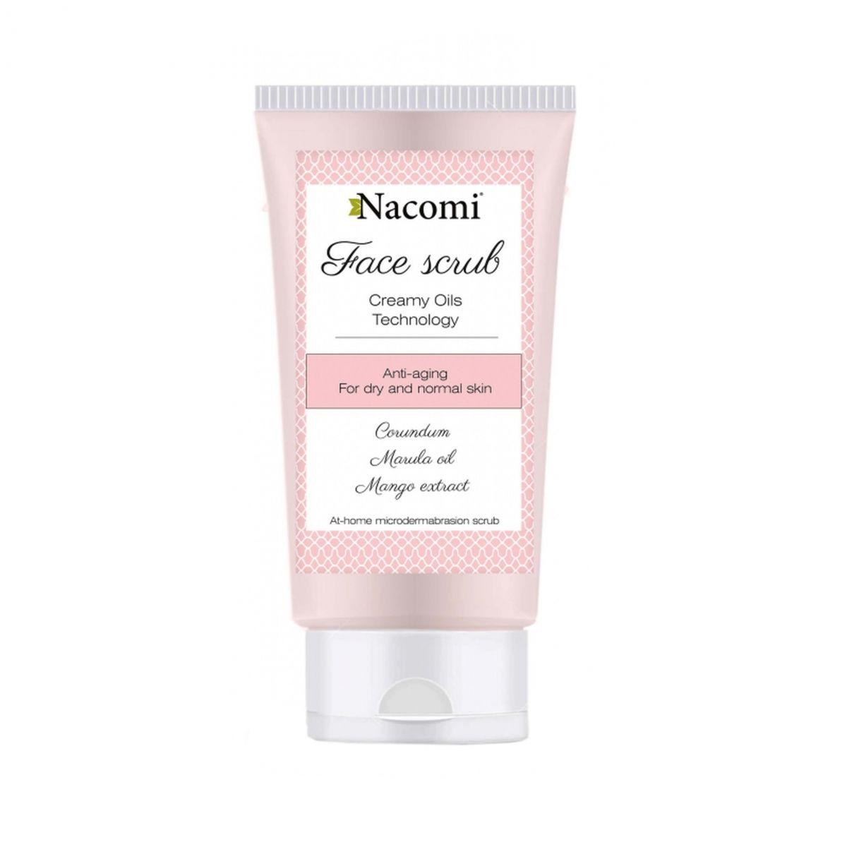 Przeciwzmarszczkowy peeling do twarzy z korundem i olejem arganowym - 85ml - Nacomi