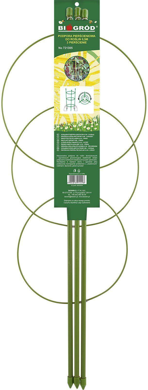 Podpora pierścieniowa do roślin 3 pierścienie 1,5m